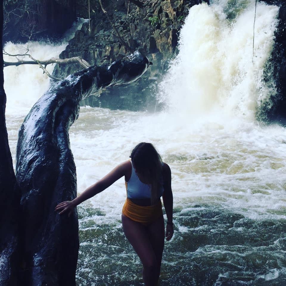 Twin waterfalls, Road to Hana à Hawaï